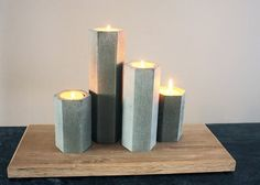 Concrete Candlestick holders. Beautiful by InspIra.