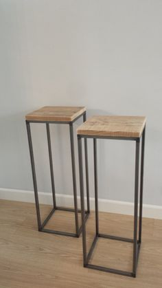 Plinths (different heights though) Van Living, Living Room, Pinterest Projects, Industrial Table, Pots, Bar, New Homes, Sweet Home, Home Design