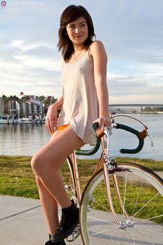 bike and girl