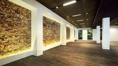 Space Asia Hub / WOHA - exposed existing masonry wall - new columns