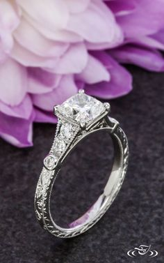 Cushion Cut Diamond Solitaire Engagement Ring Green Lake Jewelry