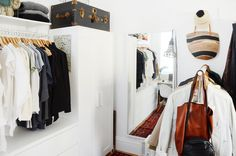 Four Roommates Create Stylish & Affordable Makeshift Closets from IKEA Parts