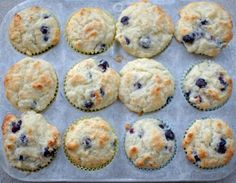 Blueberry muffins with greek yogurt.