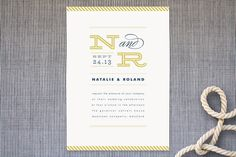 Ballaster Wedding Invitations by Jennifer Wick at minted.com