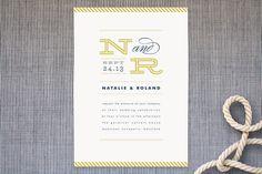 Ballaster Wedding Invitations by Jennifer Wick at minted.com