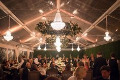 Tent Lighting by The AV Company (Keswick Hall Wedding - Charlottesville VA)