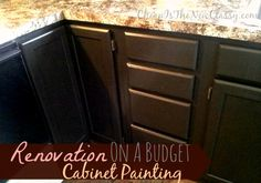 Want to change your kitchen cabinets but you don't have much cash or time? Check out what we did with a Nuvo cabinet paint kit in just a few...