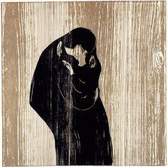 Edvard Munch (1863-1944), 1902, Kiss IV, Woodcut.