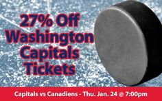$43 (27% off) Washington Capitals Tickets vs Montreal Canadiens Thu. Jan.24 @ 7:00pm - Crowd Seats Cheap Sports Tickets