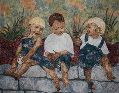 art quilt portrait, textile artist Maggie Dillon