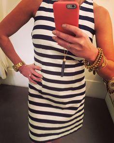Striped BB Dakota dress