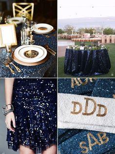 55 Elegant Navy And Gold Wedding Ideas   HappyWedd.com, Unique Wedding Ideas, Blue and Gold Weddings, Wedding Color Schemes, Table Settings, Garden Weddings, Glam and Glitter Weddings #navyweddings