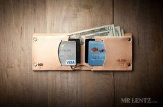 Personalized Leather Wallet Groomsmen Leather Wallet por MrLentz