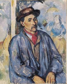 Paul Cézanne (French, 1839-1906). Peasant in a Blue Smock, 1892 or 1897. Oil on canvas. 31 7/8 x 25 9/16 in. (81 x 64.9 cm).  © Kimbell Art Museum, Fort Worth, Texas