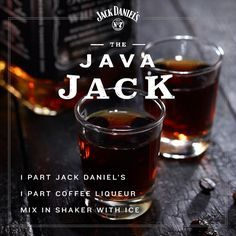 Shot of Jack meets cup of Joe. #JackDaniels #whiskey #shot #coffee #spring #drinkrecipes #drinks