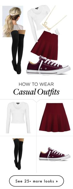 """casual."" by kendallfolley on Polyvore featuring Topshop, Sydney Evan, Converse, women's clothing, women, female, woman, misses and juniors"