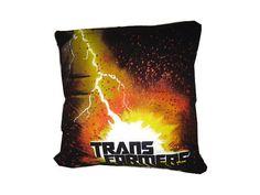 Recycled Tshirt Pillow - Transformers Comic Book throw pillow travel cushion