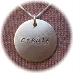 """I own this! It says """"Meditate"""" on the other side and was lovingly hand-made by my friends at Miss Darcy Designs"""
