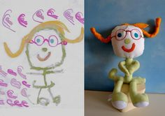 How cool is this?  This site can turn you child's art work into a stuffed animal!