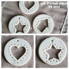 Heart house star self-hardening paste tests Les p'tites décos de Lolo Clay Christmas Decorations, Christmas Clay, Diy Christmas Ornaments, Christmas Projects, Kids Christmas, Holiday Crafts, Theme Noel, Clay Ornaments, Clay Projects