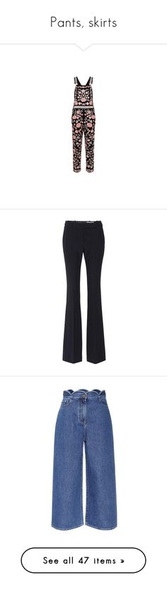 """""""Pants, skirts"""" by bliznec ❤ liked on Polyvore featuring jumpsuits, flower jumpsuit, ivory jumpsuit, embroidered jumpsuit, pink jumpsuits, pants, capris, cropped trousers, fendi pants and wool blend pants"""