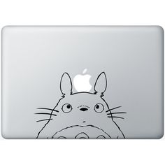 Totoro - SALE PRICE - Macbook Decal - Laptop Sticker - Mac Decals -... ($6.45) ❤ liked on Polyvore