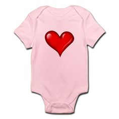 c657cc08682b CafePress Shiny New Heart Infant Bodysuit Baby Bodysuit (217538051)   fashion  clothing