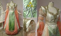 Original Princess Zelda Gown by Firefly-Path - Historical Fashion The Legend Of Zelda, Zelda Dress, Halloween Wedding Dresses, Rose Gown, Fairytale Gown, Fantasy Gowns, Fantasy Clothes, Custom Wedding Dress, Beautiful Dresses