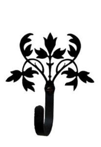 VWI WH-173-S Floral Wall Hook Sm Powder Metal Coated by Village Wrought Iron. $26.00. Finish is Flat Black Powder Metal Coated for that long lasting appeal. Material is Wrought Iron. Silhouette Sizes Vary Slightly. Color is Black. Decorative Wall Hook Small. Save 19%!