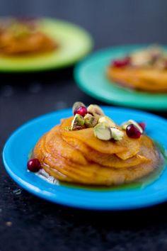 Milhojas de manzana caramelizadas (millefeuille van gekarameliseerde appels)