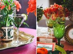 Chic Emerald and Orange Wedding Inspiration