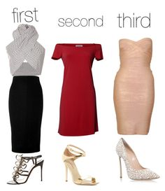 """""""comment to first second or third: which one?"""" by rockstarkaytie on Polyvore featuring Tome, Victoria Beckham, Christian Louboutin, Velvet by Graham & Spencer, Via Spiga, Hervé Léger and Casadei"""