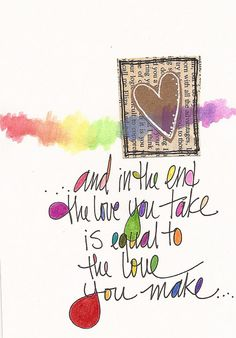 day 14 - the love you take by lindsay ostrom, via Flickr