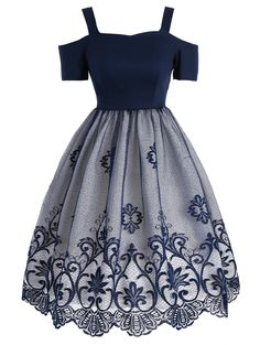 : Vintage Lace Panel Fit and Flare Dress Cheap Fashion online retailer providing customers trendy and stylish clothing including different categories such as dresses, tops, swimwear. Cute Prom Dresses, Cheap Dresses, Pretty Dresses, Beautiful Dresses, Casual Dresses, Short Dresses, Fashion Dresses, Sexy Dresses, Pretty Outfits