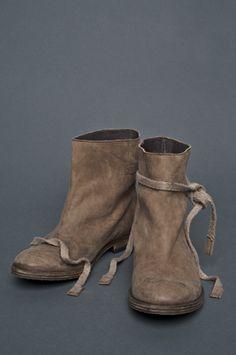 Humanoid - CRASH  flat boots with ribbon