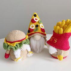 Quick Crochet, Crochet Food, Crochet Crafts, Crochet Projects, Free Crochet, Crochet Fairy, Crochet Dragon, Crochet Patterns Amigurumi, Crochet Dolls