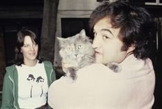 john belushi and cat