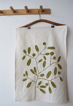 tea towel from bookhouathome on etsy