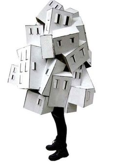 Image result for cardboard wearable structures