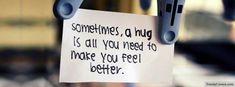 Sometimes A Hug Facebook Cover
