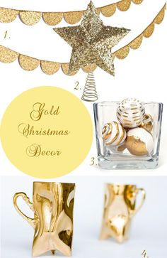 Glamorous Gold Christmas Decorating Ideas