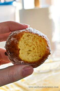 My recipe for Lithuanian curd cheese doughnuts (varskes spurgos). Light, crisp and absolutely delicious!