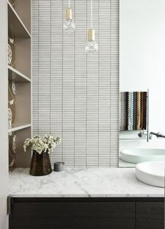 OMG that s really gorgeous with Lee broom lights Bathroom in Grove Residence Two project.