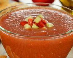 Gaspacho de courgettes et poivrons