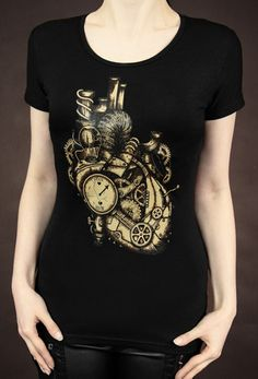 Restyle Mechanical Heart Steampunk Tshirt