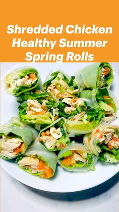 Healthy Eating Recipes, Healthy Chicken Recipes, Healthy Snacks, Cooking Recipes, Mediterranean Dishes, Appetizer Recipes, Appetizers, Weight Loss Meal Plan, Spring Rolls