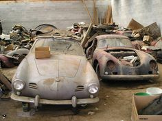 VW Karmann Ghia and Porche 356 #vintage #porsche.  Somebody give us some love!