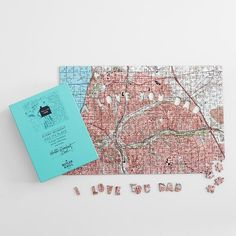 Personalized gifts for dad: Custom I Love Dad map puzzle at Red Envelope