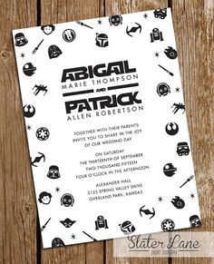 Star Wars Wedding Invitation Theme Galaxy   Printable Download   Custom  Wedding Invite   5x7