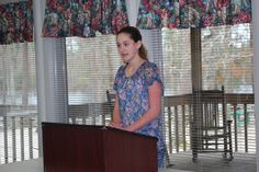 Junior Club members practice public speaking skills all year.  Part of this program includes participating in the District Public Speaking/Presentations Contest to compete against other youth across the district.